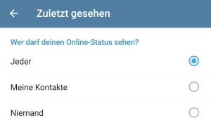 Telegram Benachrichtigung sobald jemand online geht