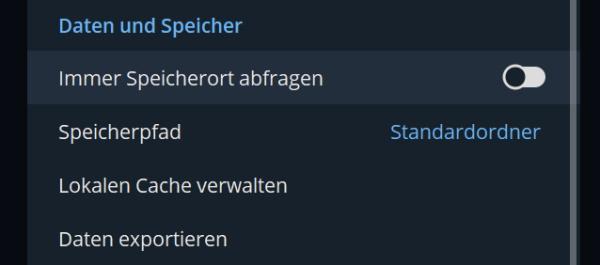 Telegram Speicherort PC